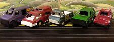 Vintage Diecast Tootsie Bronco, Wheelie Wagon, Desert Shake, Van and Ram Van