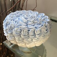 FAKE FAUX ARTIFICIAL BLUE OMBRÉ ROSETTE CAKE PROP, DISPLAYS.