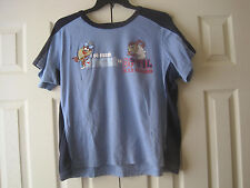 Looney Tunes Tasmanian Devil I Hate Mornings Blue T-Shirt~Size L~LBDER