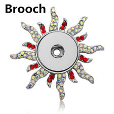 2018 Hot Crystal Jewelry Brooch Fit 18mm Noosa Snap Button Butterfly N07