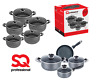 Kitchen Non Stick Die Cast Casserole Stockpot Frypan Saucepan Cookware Set UNA