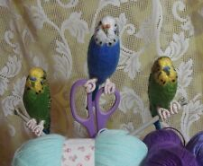 Budgie Knitting Pattern by Sue Farrar - Toy/Ornamental Bird - So Realistic!!!