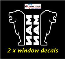 MAN truck cab window decals x 2.  MAN truck lion stickers INSIDE FITTING