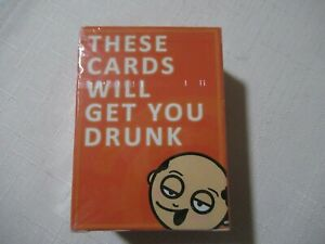 These Cards Will Get You Drunk Card Game for Adults Fun Party Game SEALED