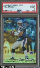 2002 Bowman's Best Tom Brady New England Patriots PSA 9 MINT