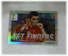2014 Panini Prizm World Cup Refractor Net Finders David Villa Spain #22