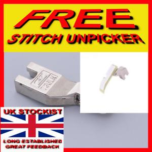 INDUSTRIAL SEWING MACHINE TEFLON  'HALF' FOOT ZIP (LEFT) FREE UNPICKER T36LNx
