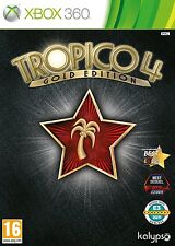 Xbox 360 Game Tropico 4 IV Gold Edition Base Game+add-on Modern Times NEW
