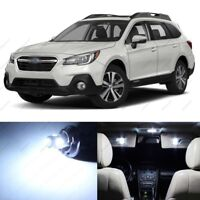14 x White LED Interior Lights Package For 2015 - 2018 Subaru Outback + PRY TOOL
