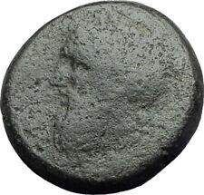 ADRAMYTION MYSIA 300BC Authentic Ancient Greek Coin ZEUS & Man on Horse  i64252