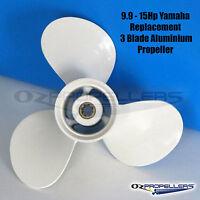 For Yamaha 9.9-15-20HP 3 Blade Aluminium 8 tooth Spline Propeller Prop