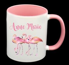Personalised Name Flamingo Coffee Cup Mug Friend Female Birthday Present Gift