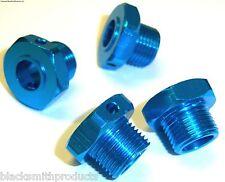 17mm Drive Hex Hub Wheel Aluminium Adapter Blue x 4