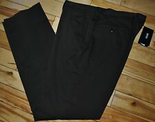 Hugo Boss $225 Cotton Brown Shark Flat Front  Dress Pants Trousers 40R