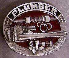 Pewter Belt Buckle Tradesman Plumber NEW