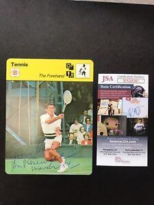 Sportscaster Series 69 Card #6923 The Forehand JSA CERTIFIED KEN ROSEWALL SIGNED