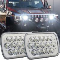2Pcs 45w 7x6 Led Headlights Rectangular 5x7 Hi/Lo Led for Jeep Wrangler YJ XJ MJ