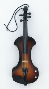 Realistic Miniature Electric Violin Christmas Tree Ornament, NEW Music Gift