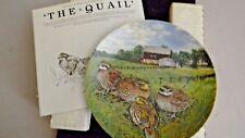 Bradford Exchange Collectors Plate - The Quail - 1987