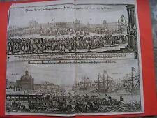 MERIAN 1672  LISABONA  Prächtiger Durchzug Königin Catharina England / Lisabona