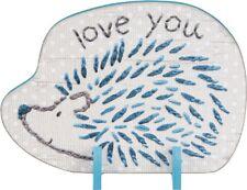 Porcupine Loves You Stand Up Wood Sign~Plaque/Basket/Baby Room Decor/Boy/Blue