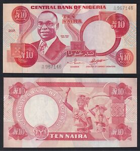 Nigeria 10 naira 2001 FDS-/UNC-  C-09