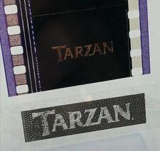 Disney Animation Authentic Movie Film 5-Cell Strip TARZAN Title Frame