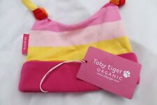 Toby Tiger Organic 0/6 months 100% cotton pink  and yellow striped BNWT new