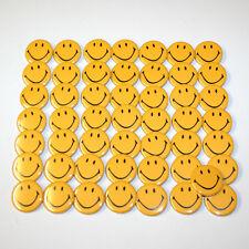 Smiley Face Badge Lot x50 Bulk Wholesale Badges Buttons - Size 32mm Smilies