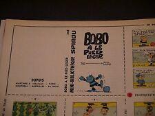 JOURNAL DE  SPIROU N°1521 MINI RÉCIT N°368 BOBO A LE PIED LEGER + COUV MACHEROT