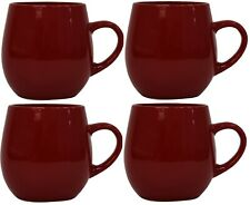 Stunning Set of 4 Bright Red Fruiti Porcelain Extra Large Coffee Soup Mugs