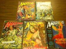 5 AMAZING STORIES 1949-1952 vintage science fiction pulps LOT