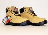 Britannia Bulldog honey S1P steel toecap/midsole safety work boot UK STOCK EN345
