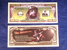 The Invisible Man Classic Million Dollar Bill Collectible Money Novelty Note