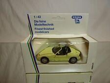 SCHABAK 1160 BMW Z1 - E30Z - PALE YELLOW 1:43 - GOOD CONDITION IN BOX