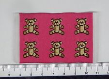 1:12 petites tissé rose ours tapis tapis maison de poupées miniature accessorry