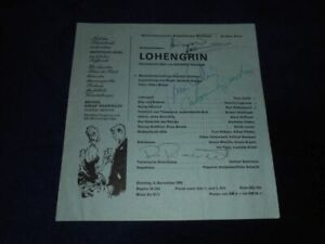 LOHENGRIN - Autogramme - Autograph - signiert -1969 - Hollreiser - Riddersbusch