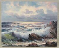"""Huile sur toile """"La tempête"""" signée par MACCARIN"""