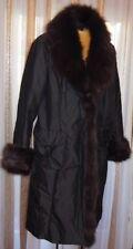 Blacky Dress Berlin*Mantel*abnehmbarer üppiger Blaufuchs Kragen*Gr. 40/42*schoko