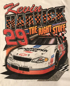 "Kevin Harvick #29 Goodwrench  Service Plus. ""The Right Stuff"" T Shirt Size XL"