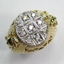 230 - Attraktiver Ring - Gold 585 gelb/weiß - Brillanten -1436-