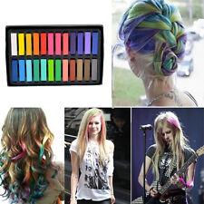 New Size 24 Colors Non-toxic Temporary Hair Chalk Dye Soft Pastels Salon Kit