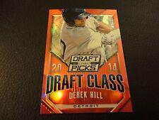 2014 Perennial Draft Picks Derek Hill Red Draft Class Prizm 24/100 Detroit