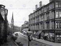 DUMBARTON HIGH STREET SCOTLAND VINTAGE HISTORY OLD BW PHOTO PRINT POSTER 573BWB
