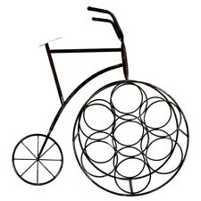 Penny Farthing Bicycle Style Shape Metal Wine Rack Bottle Holder Stand Storage