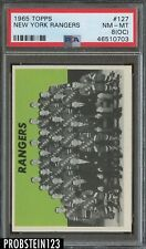 1965 Topps Hockey #127 New York Rangers PSA 8 (OC) NM-MT