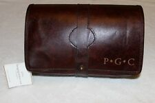 "Pottery Barn Travel Saddle Leather Hanging Toiletry Case Bag NWT Free Ship ""PGC"