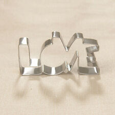 Stainless Steel Cookie Cutter LOVE Letter Shape Forms For Biscuit Cake Mould Top