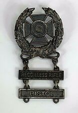 Vintage Us Army Expert Recoilless Rifle & Pistol Badge