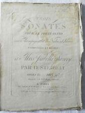 *** RARE : TROIS SONATES POUR LE FORTE-PIANO - DANIEL STEIBELT - OPERA 35 - 1799